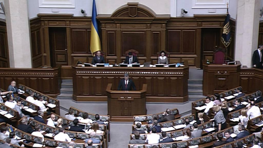 Petro Porošenko přednesl projev o situaci na Ukrajině