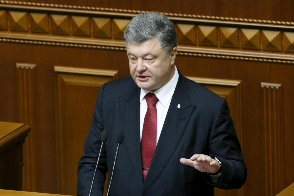 Petro Porošenko zhodnotil svůj první rok ve funkci