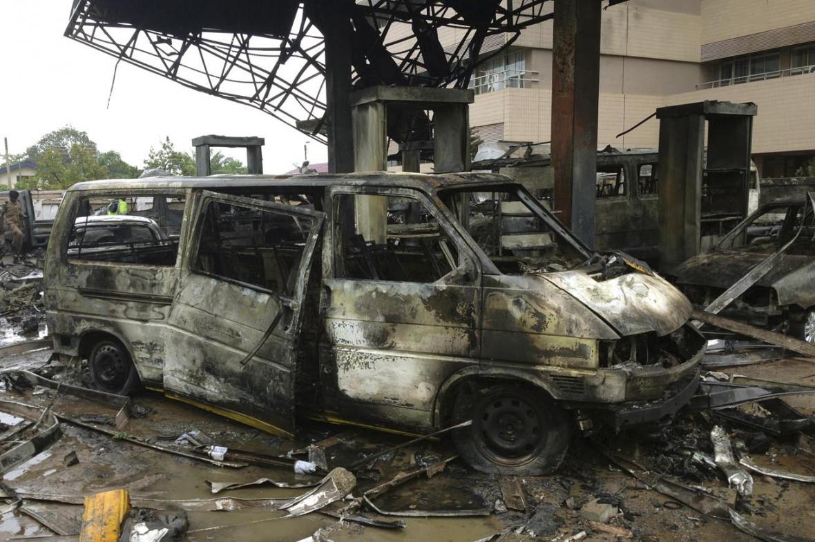Výbuch na benzince v Akkře