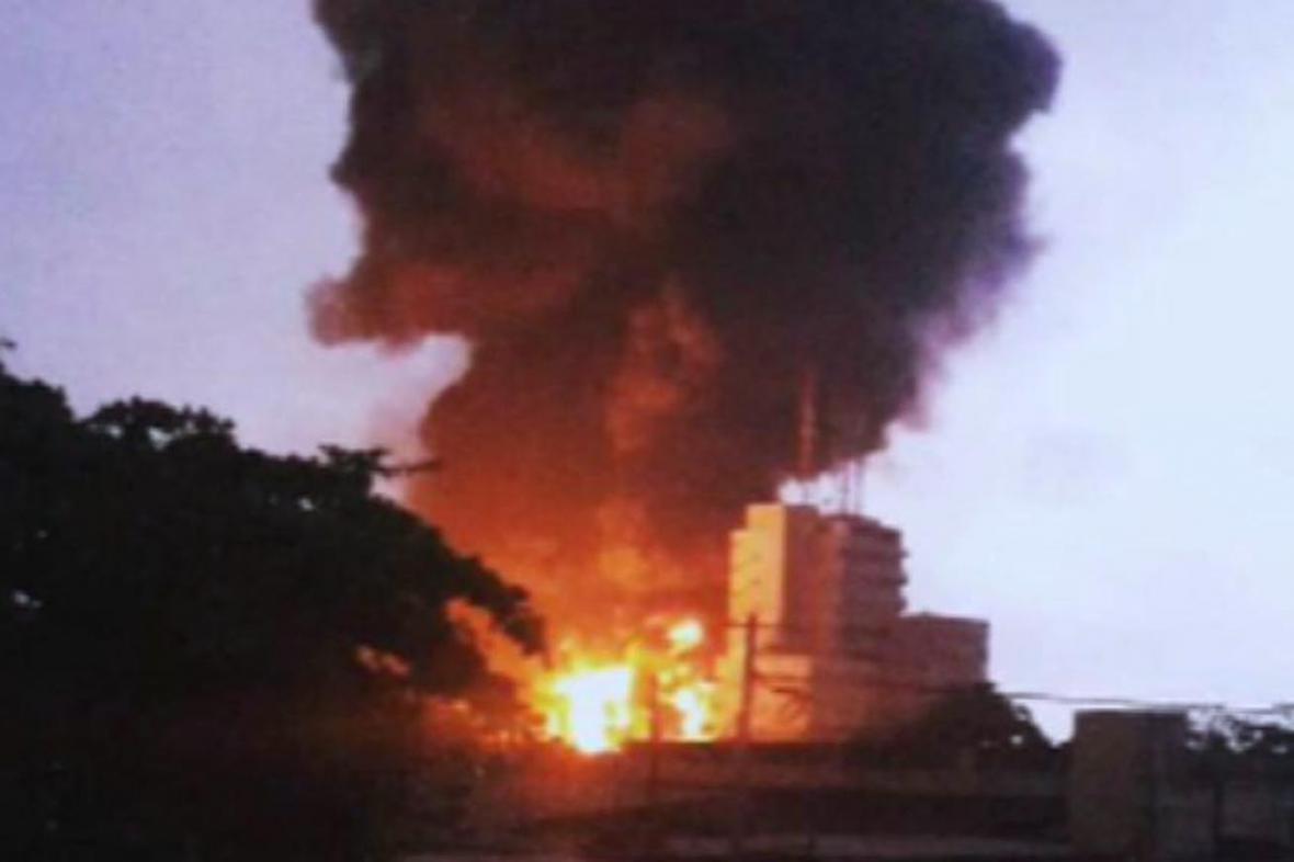 Výbuch benzinky v Akkře
