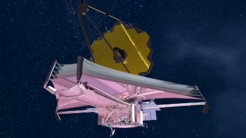 Schéma Webbova teleskopu