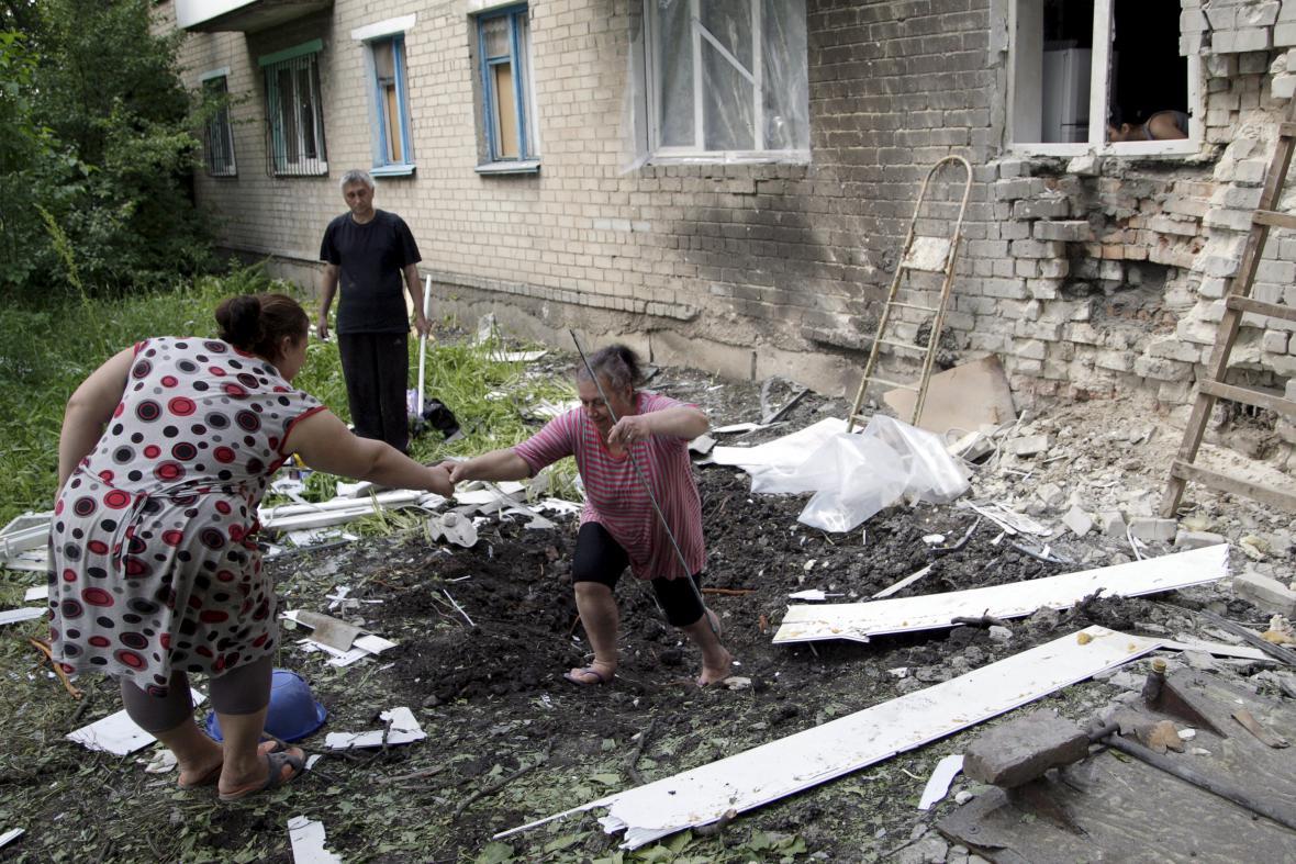 Boje na východní Ukrajině