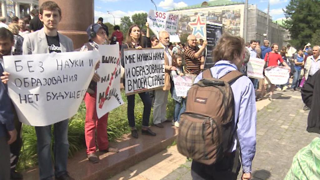 Protest ruských vědců proti odlivu mozků do zahraničí