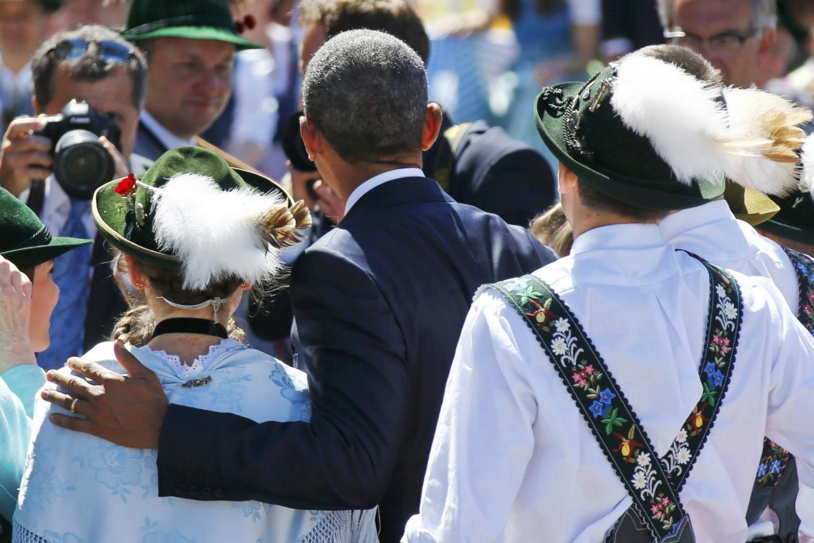 Americký prezident v Bavorsku užil