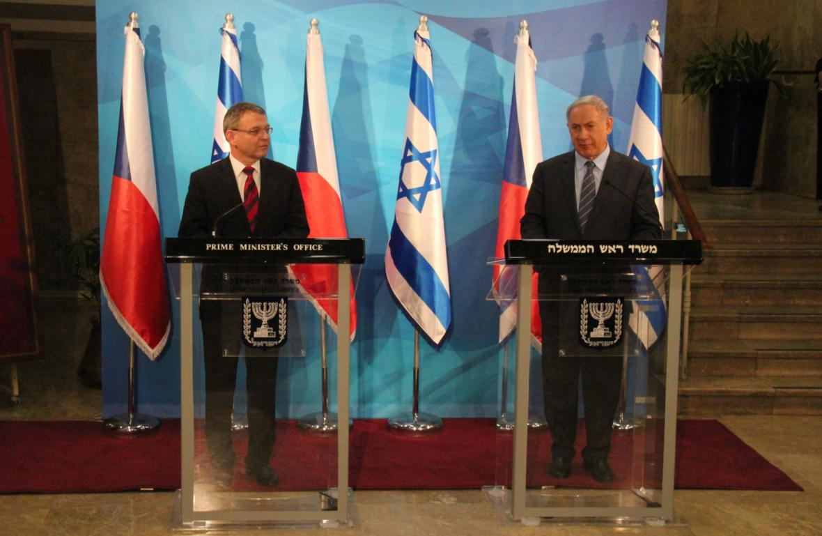 Lubomír Zaorálek a Benjamin Netanjahu
