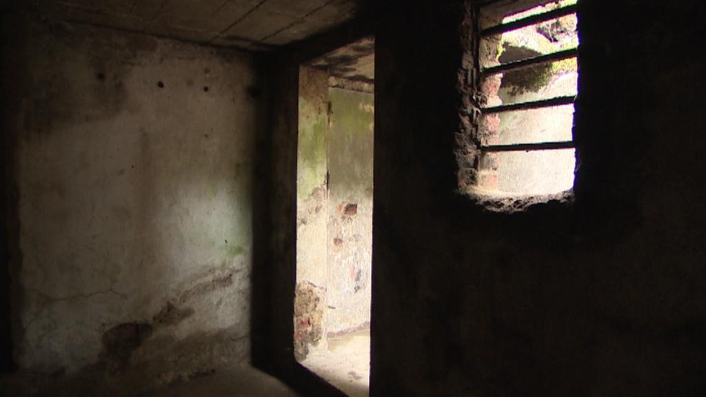 Vnitřek vězeňské korekce v Jáchymově