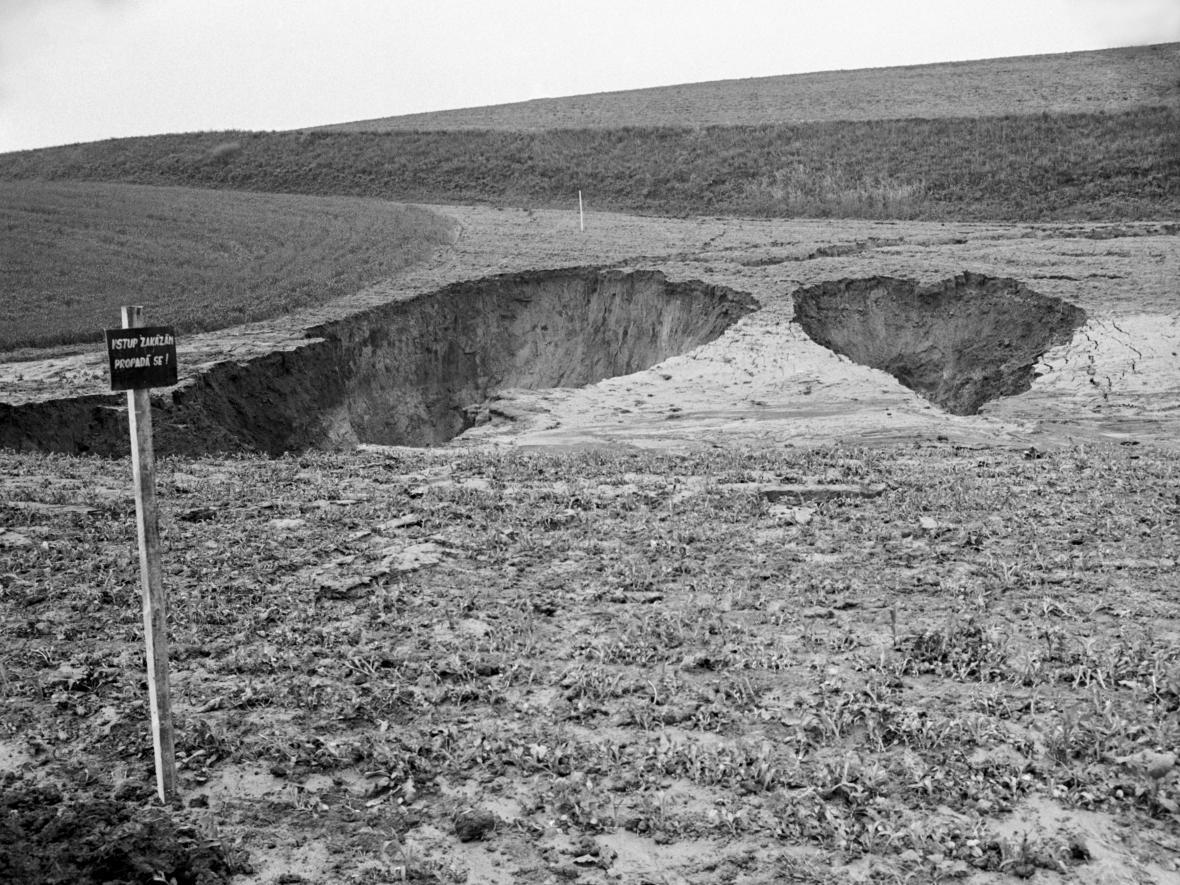 Zatopený důl Dukla v Šardicích