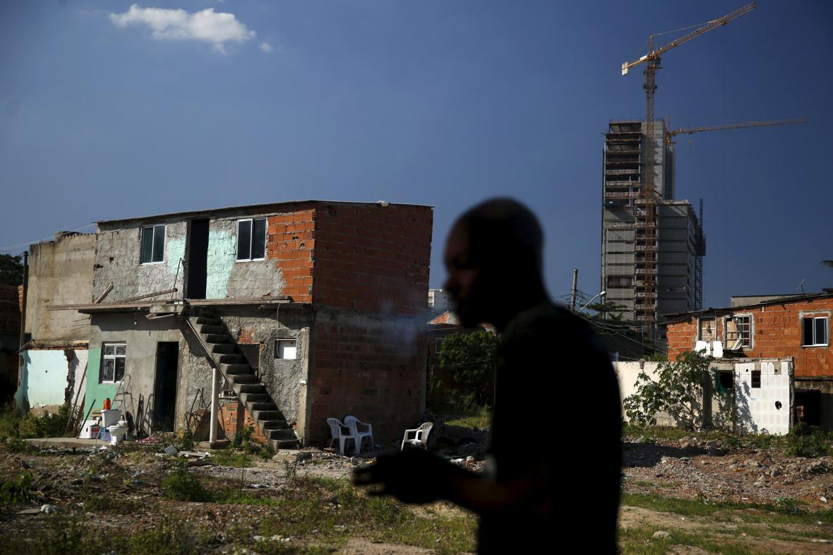 Favela Vila Autodromo u olympijských stavenišť