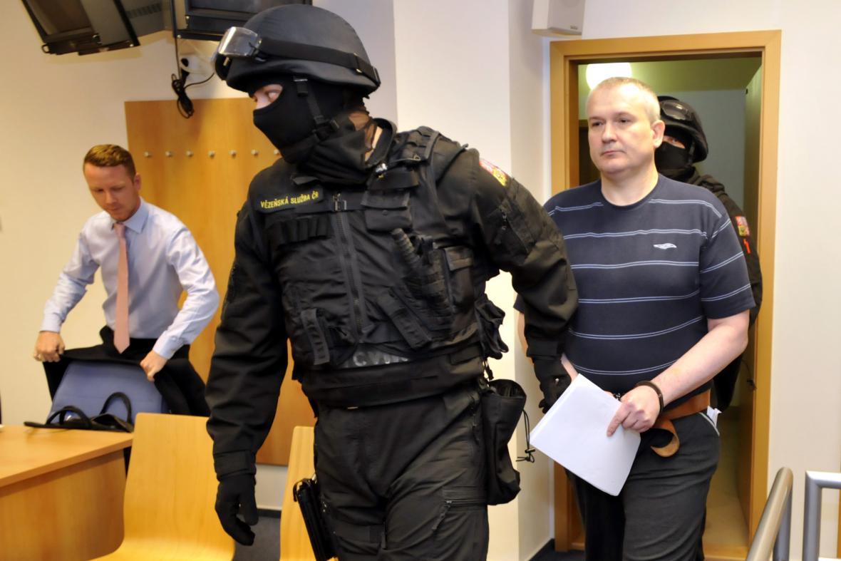 Radek Březina u soudu