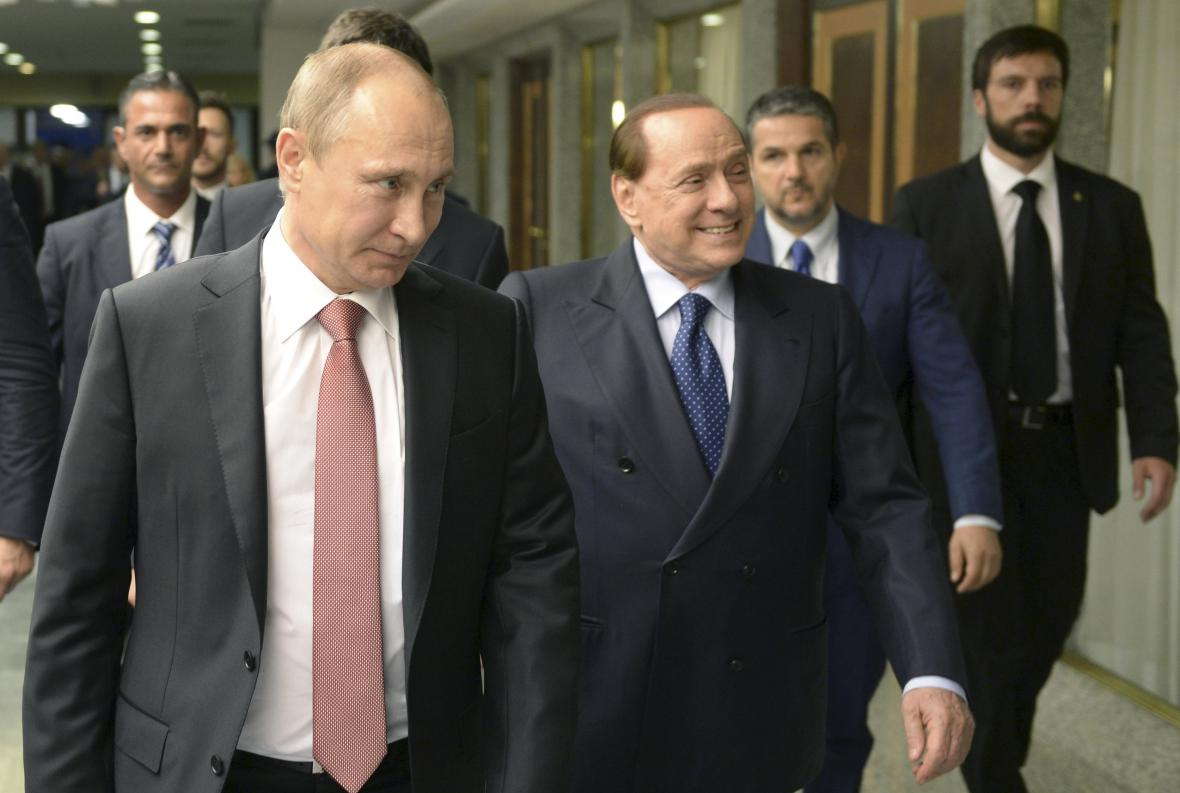 Vladimir Putin a Silvio Berlusconi