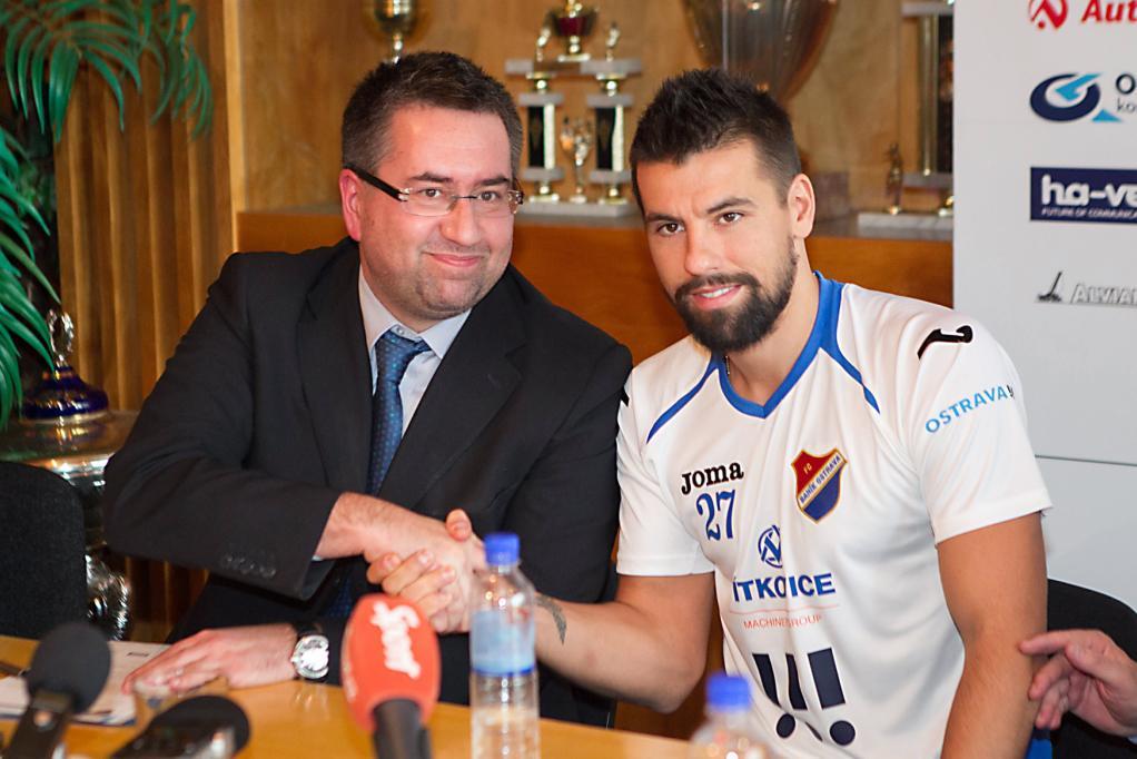 Majitel ostravského Baníku Petr Šafarčík a Milan Baroš