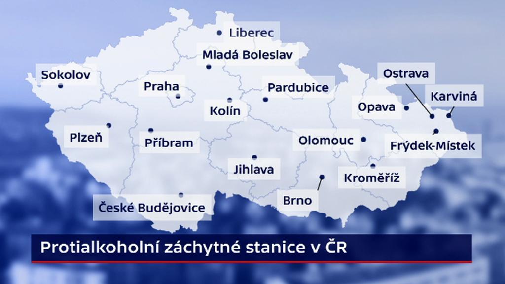 Protialkoholní záchytné stanice v ČR