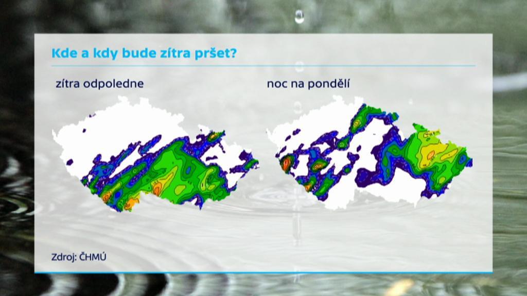 Bouřky zasáhnou Česko i zítra
