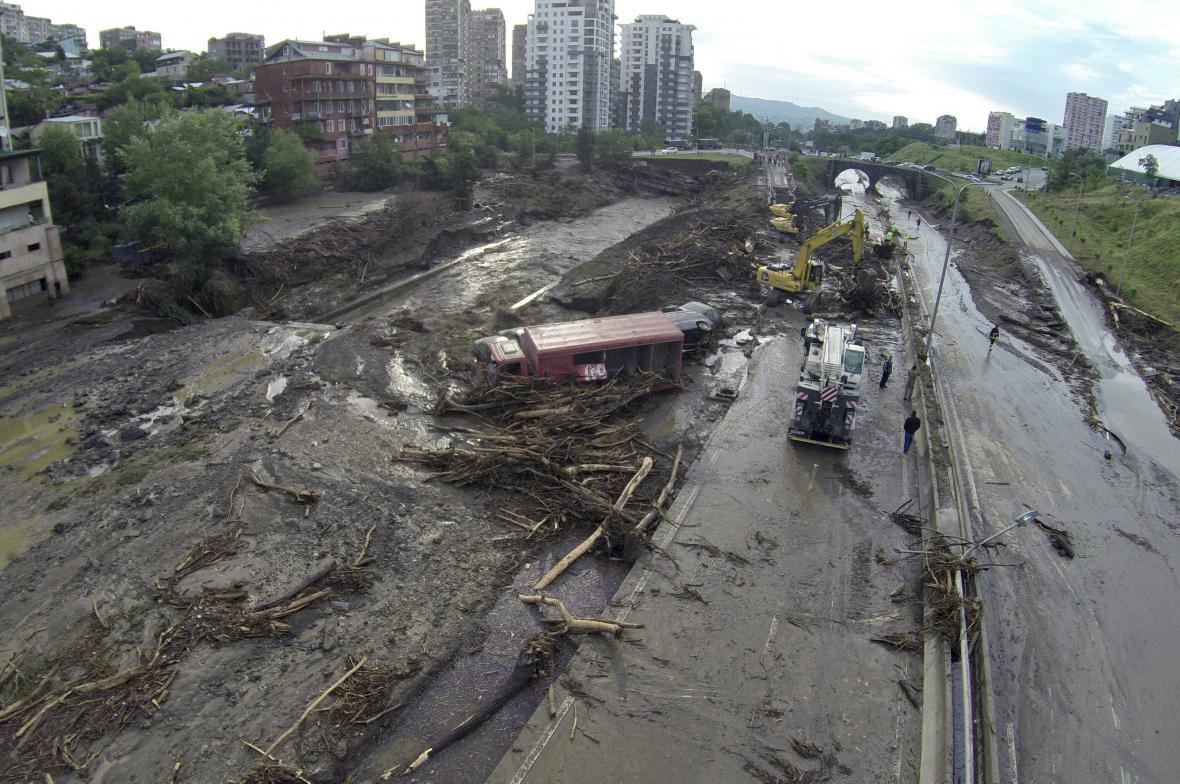 Záplavy v Tbilisi