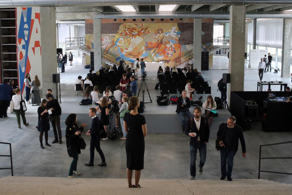 Otevření nového centra moderního umění v Moskvě