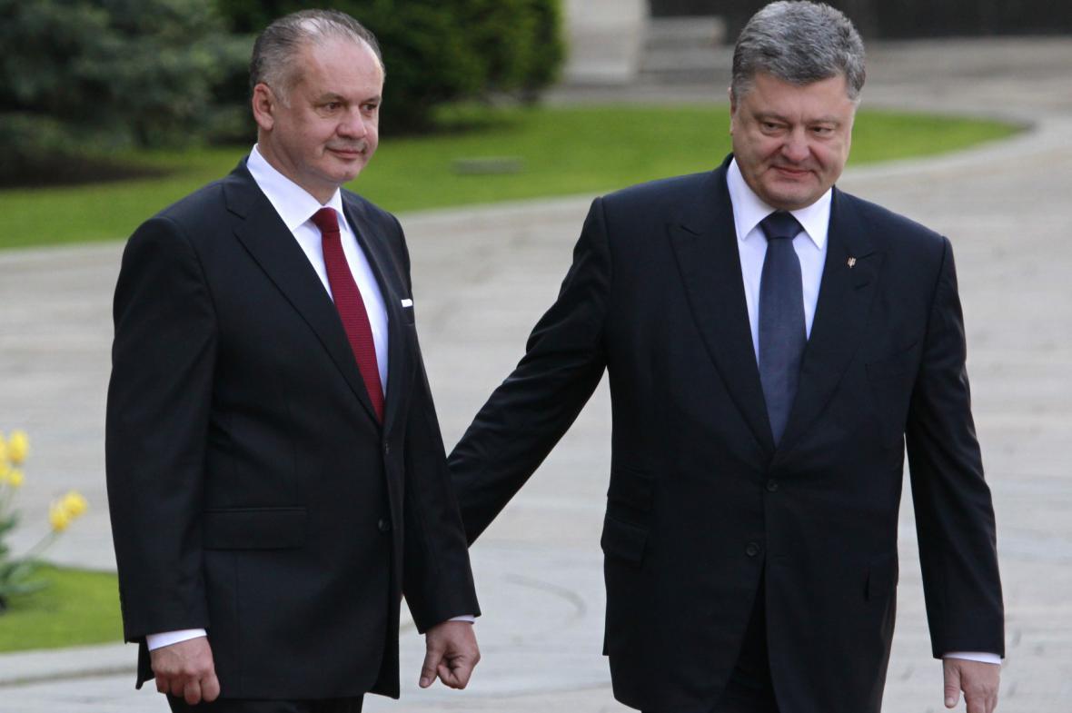 Andrej Kiska a Petro Porošenko