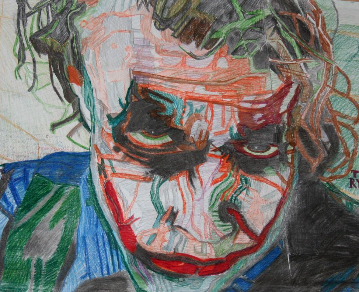 Heath Ledger jako Jocker v Temném rytíř