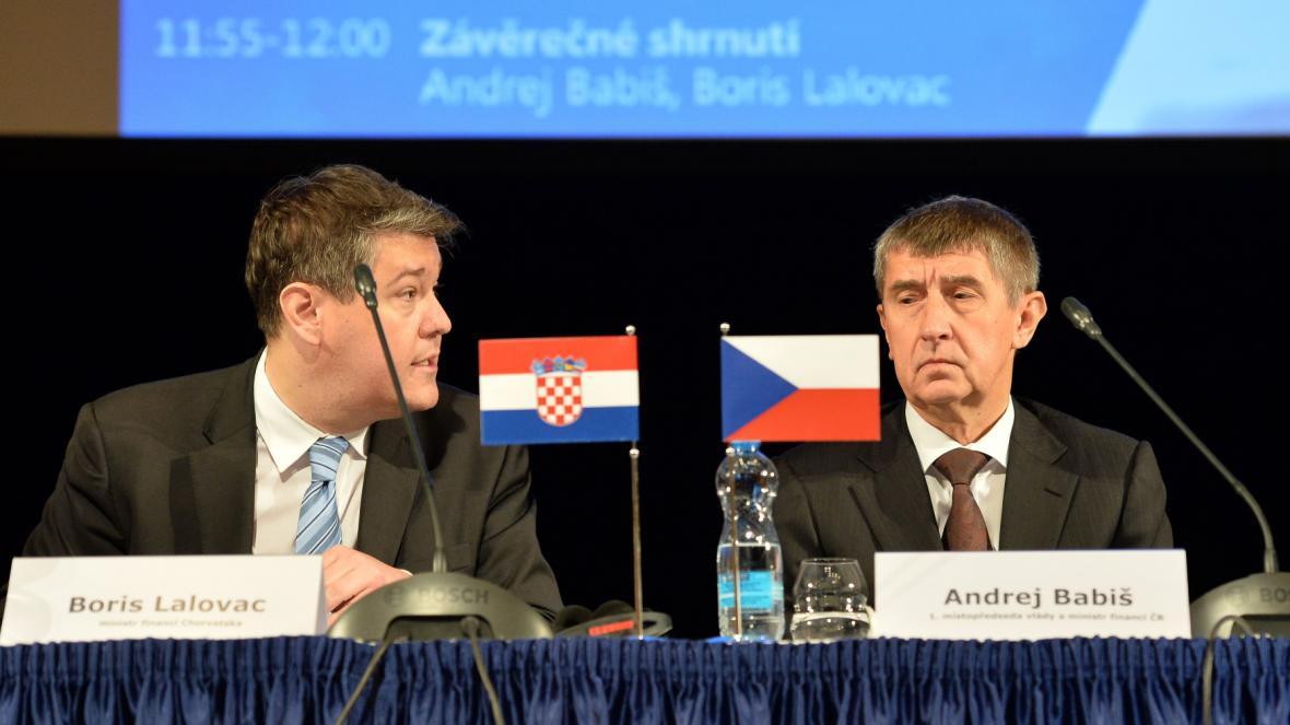 Ministři financí Boris Lalovac a Andrej Babiš