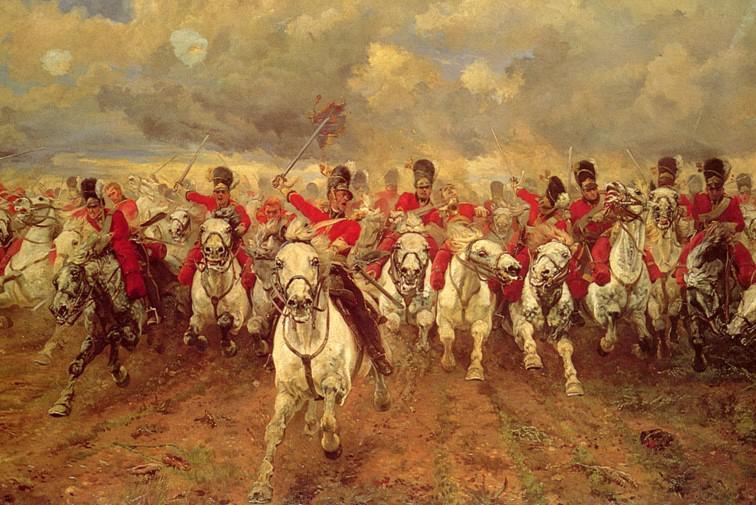 Elizabeth Butlerová: Skotsko navždy! (1881)