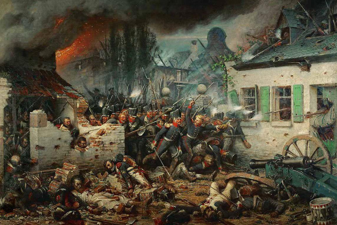 Adolf Northern: Prusové v Plancenoit (1876)