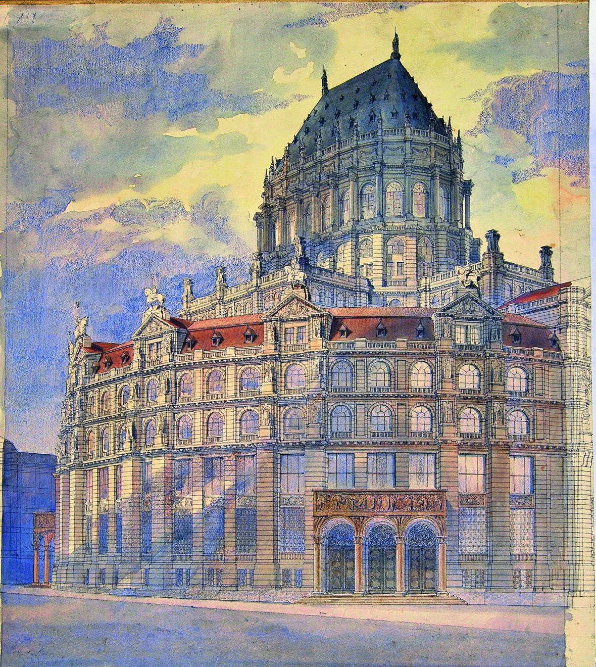 Návrh rakousko-uherské banky ve Vídni