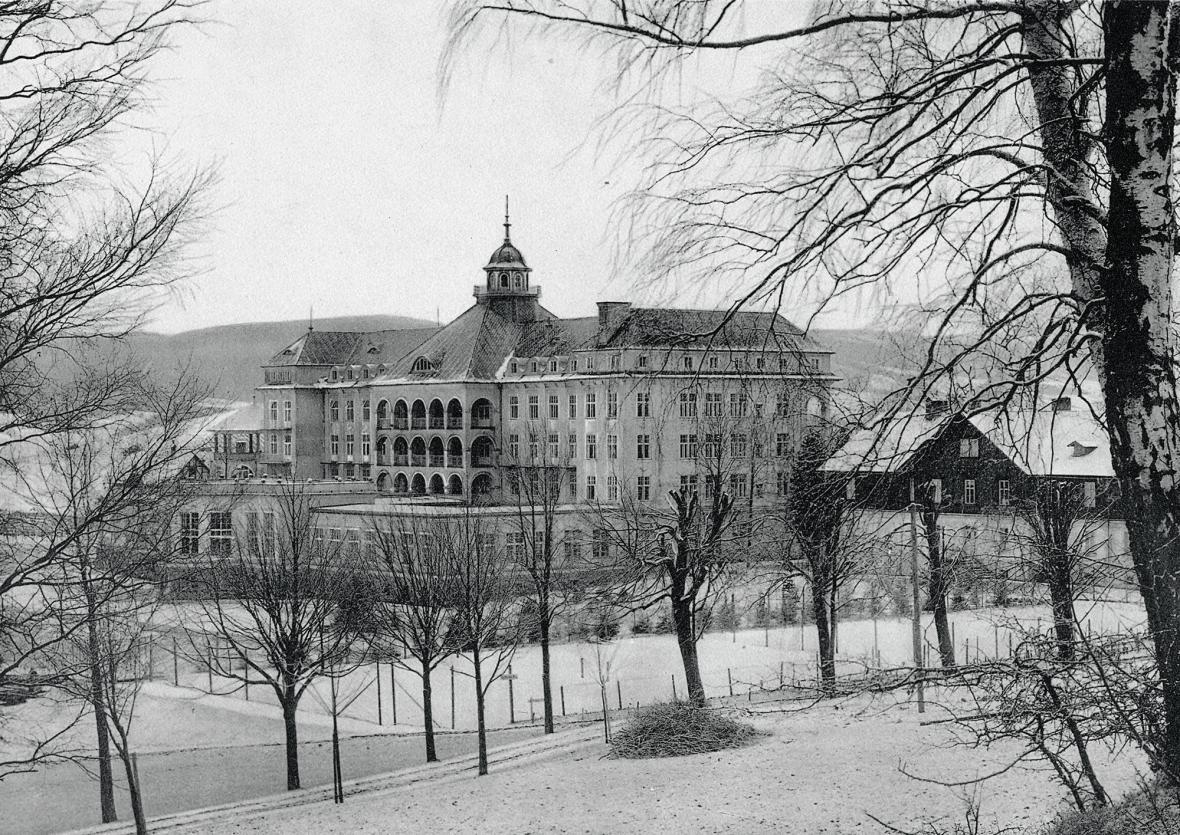 Sanatorium Priessnitz v Lázních Jeseník