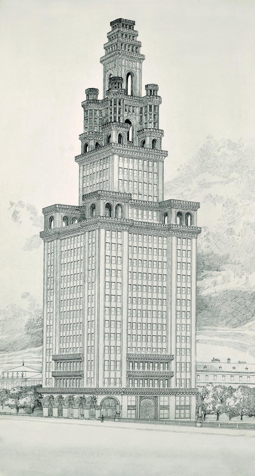 Soutěžní návrh pro Chicago Tower