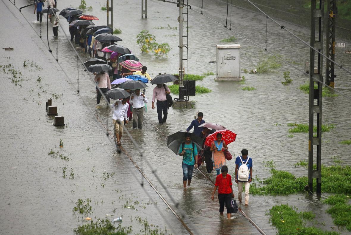 Záplavy v Bombaji