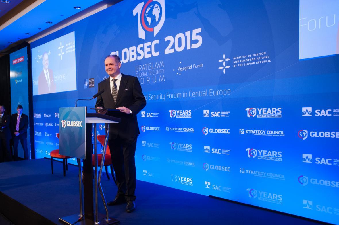 Andrej Kiska na konferenci Globsec