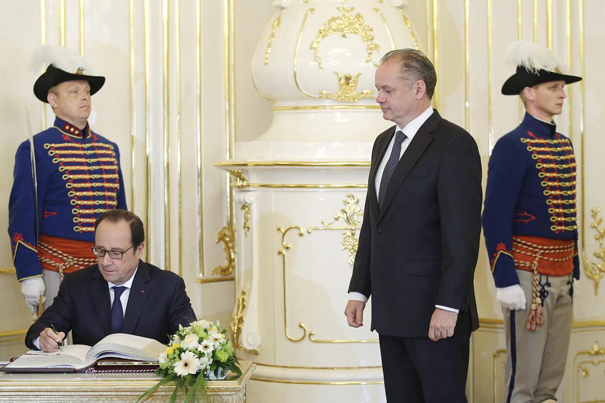 Francois Hollande a Andrej Kiska