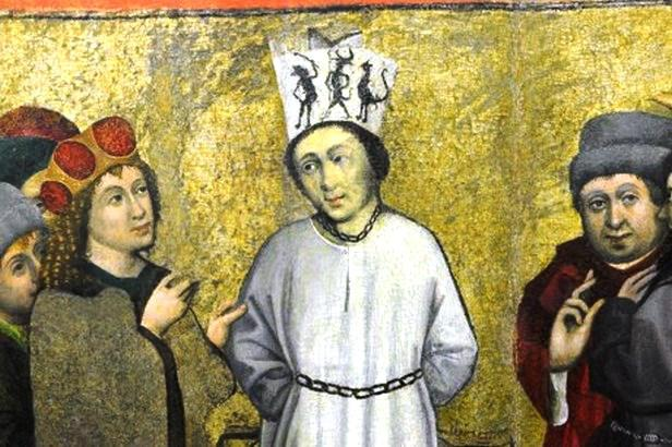 Husovský výjev na oltářním křídle z Roudník
