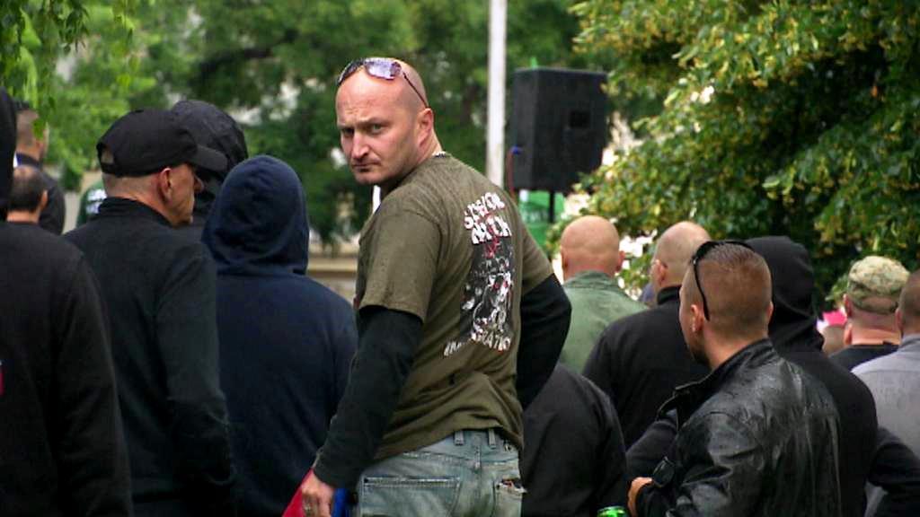 Demonstrace proti imigrantům v Bratislavě