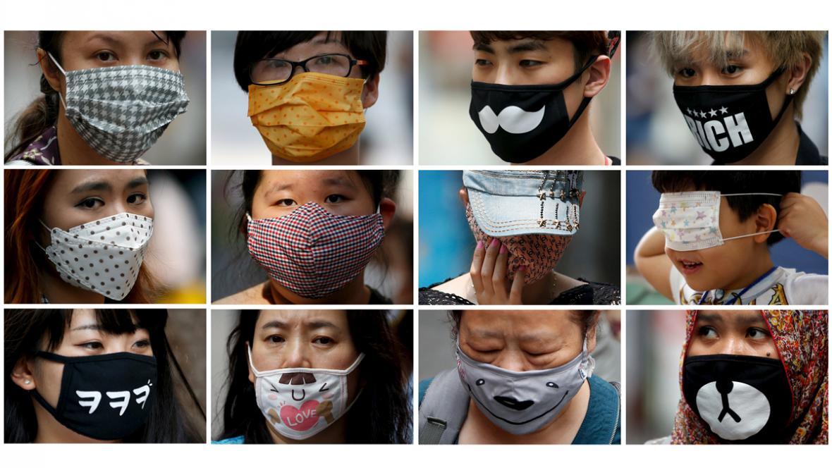 Roušky proti nákaze MERS svědčí o fantazii Korejců
