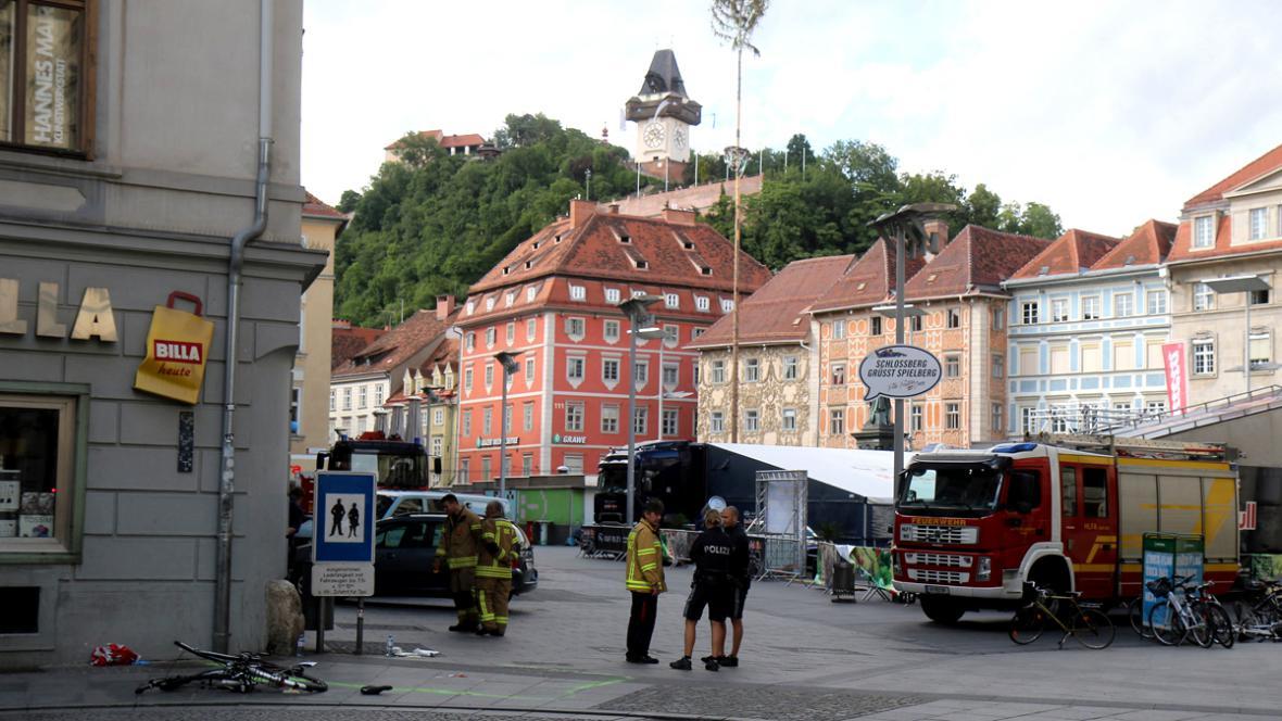 Místo sobotního masakru ve Štýrském Hradci