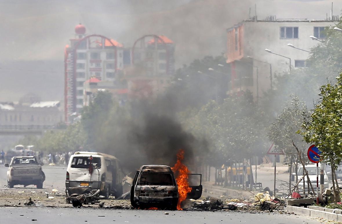 Výbuch před parlamentem v Kábulu
