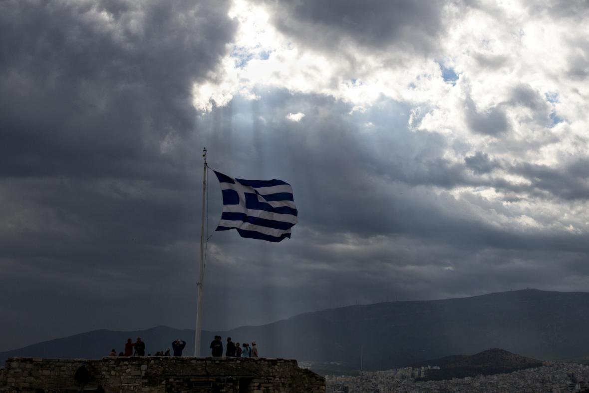 Soumrak nebo svítání nad Řeckem