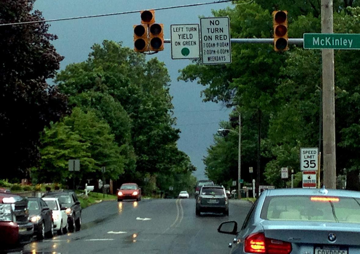 Bouře v Chambersbrough v Pensylvánii