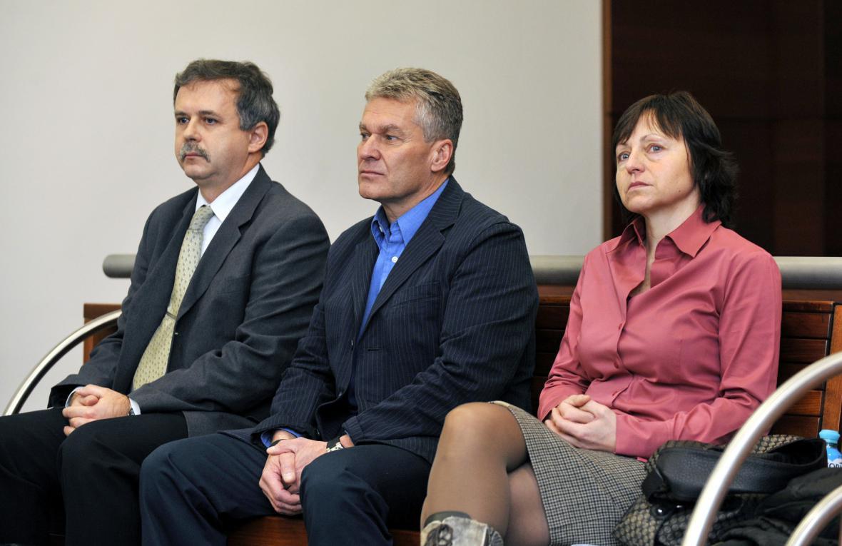 Zdeněk Kračmar, Petr Patrman a Jindřiška Máchová - archivní snímek z roku 2011