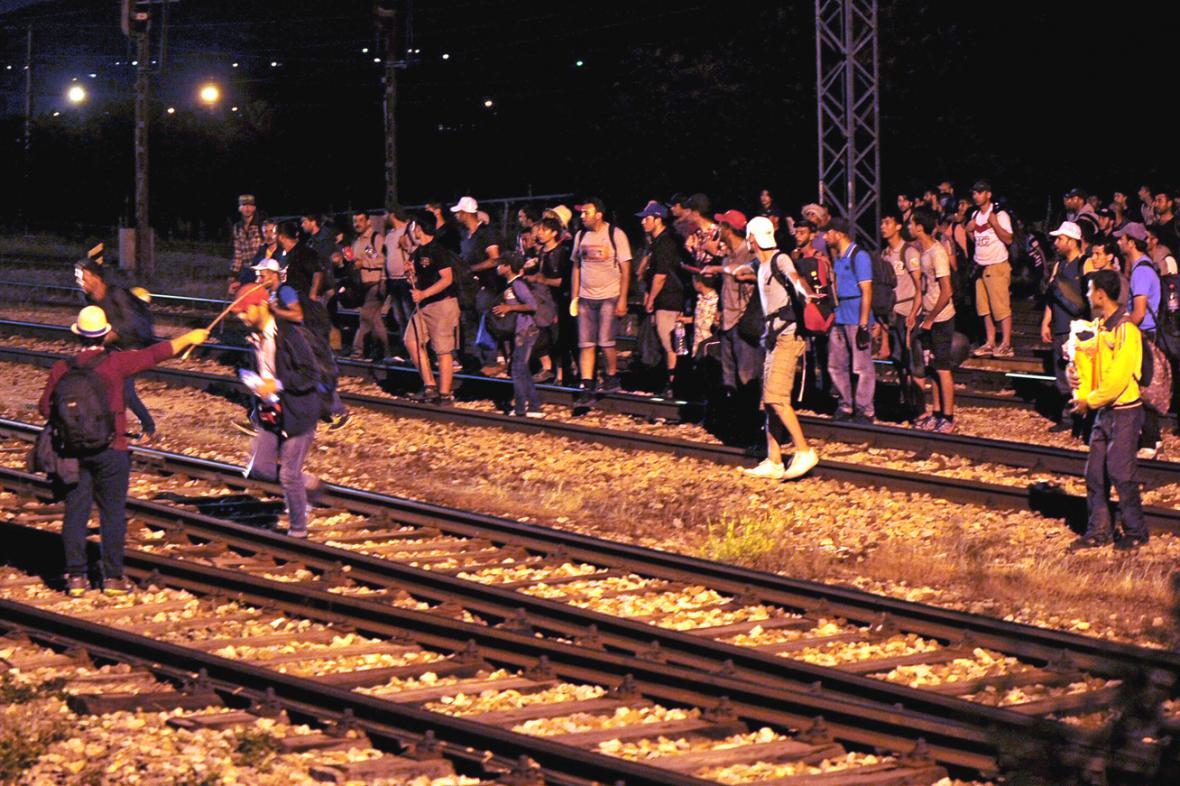 Uprchlíci na srbsko-makedonské hranici
