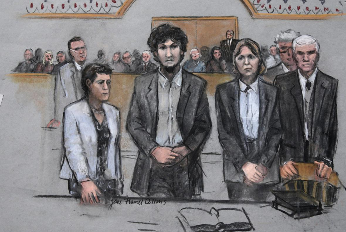 Džochar Carnajev u soudu