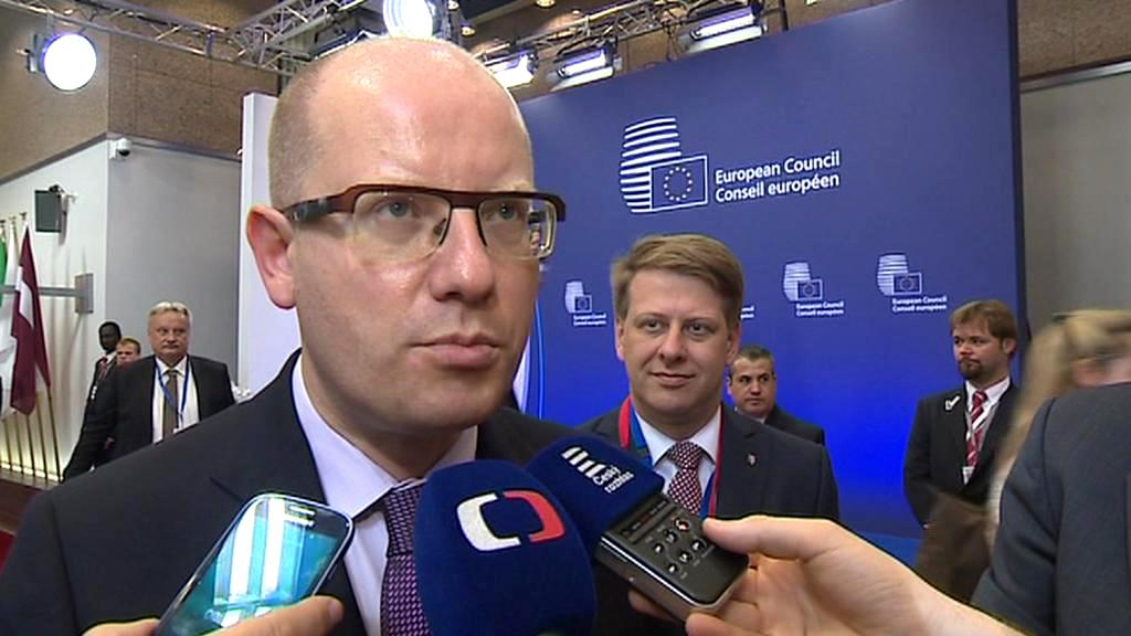 Bohuslav Sobotka po příjezdu na summit EU
