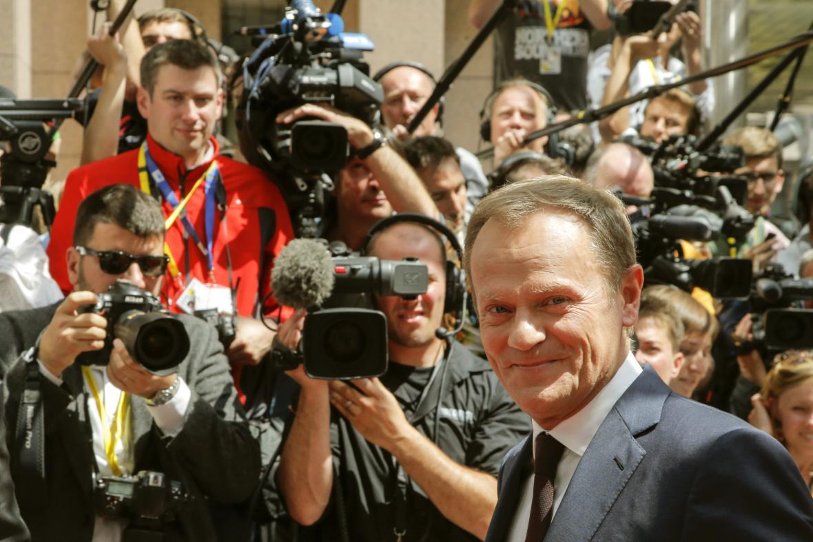 Donald Tusk dorazil na summit EU