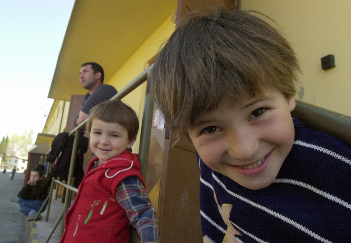 Uprchlický Tábor ve Vyšních Lhotách