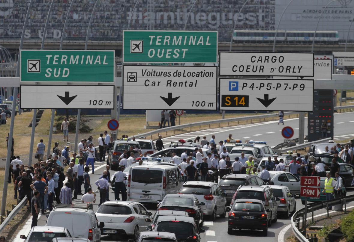 Protest francouzských taxikářů