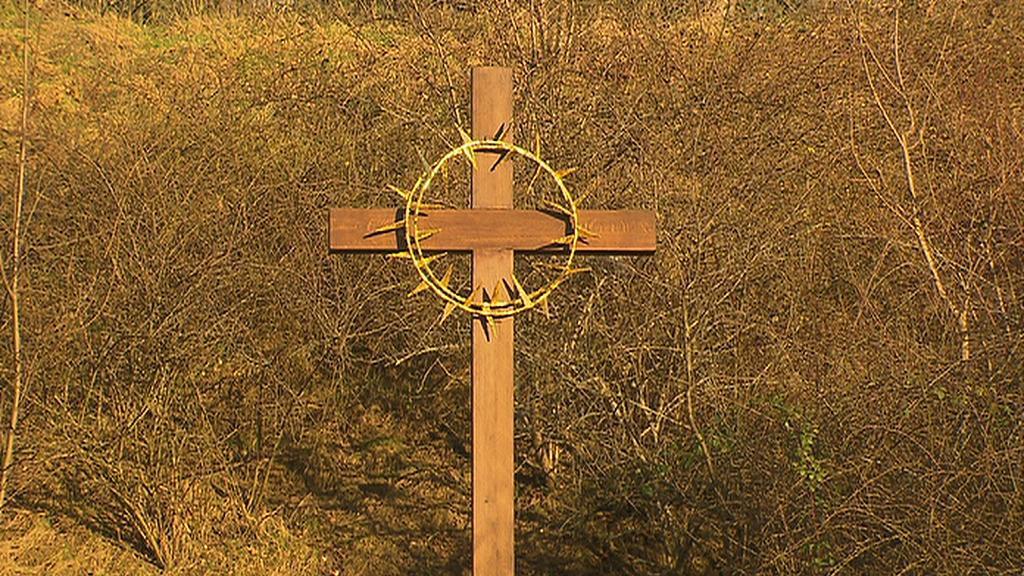 Kříž na Kobyliské střelnici