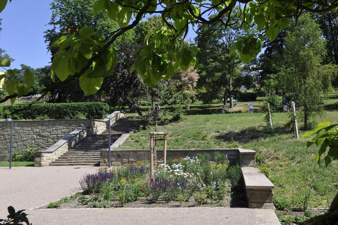 Obnovená zahrada brněnské vily Stiassni