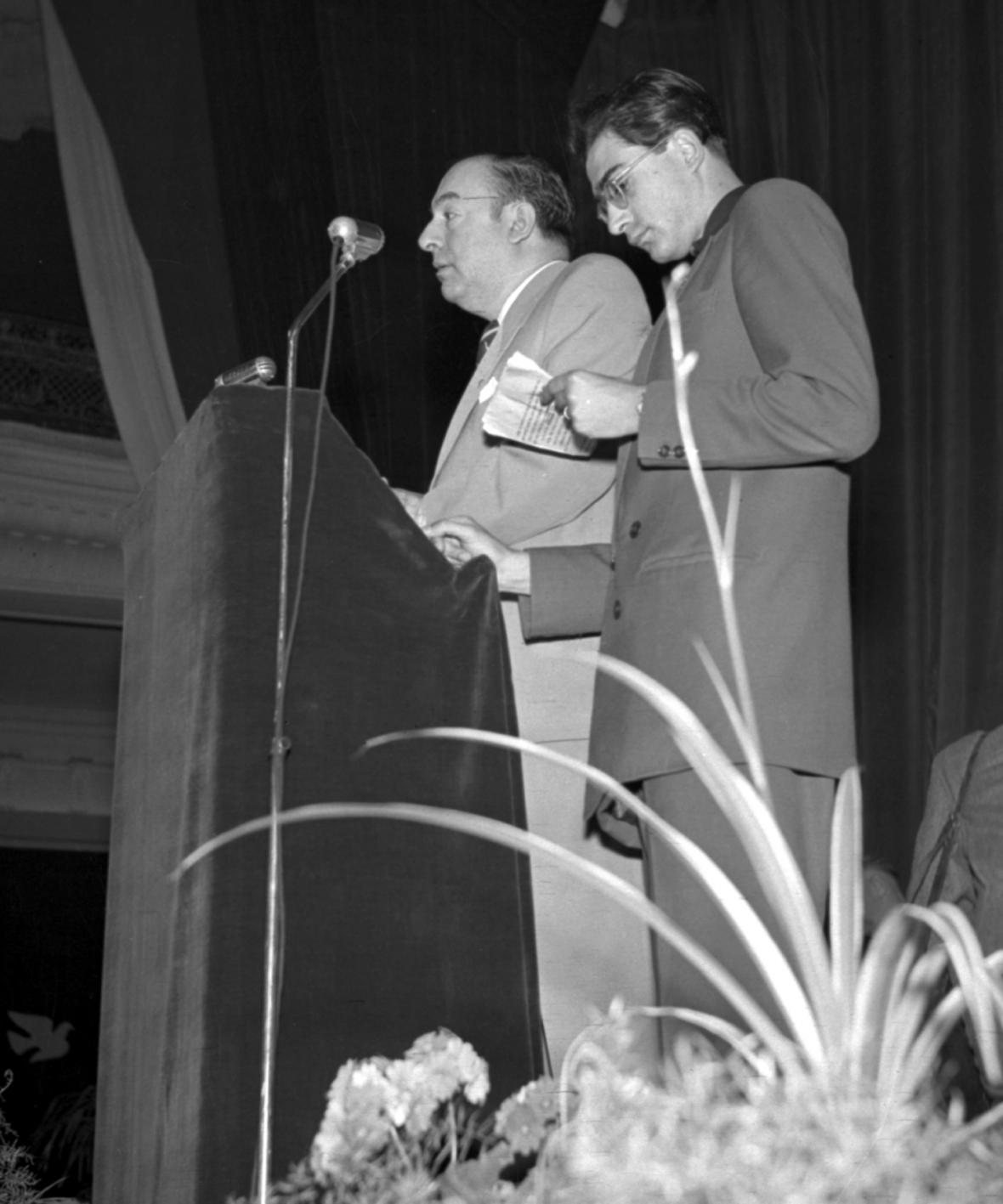 Pablo Neruda na MFF Karlovy Vary v roce 1951