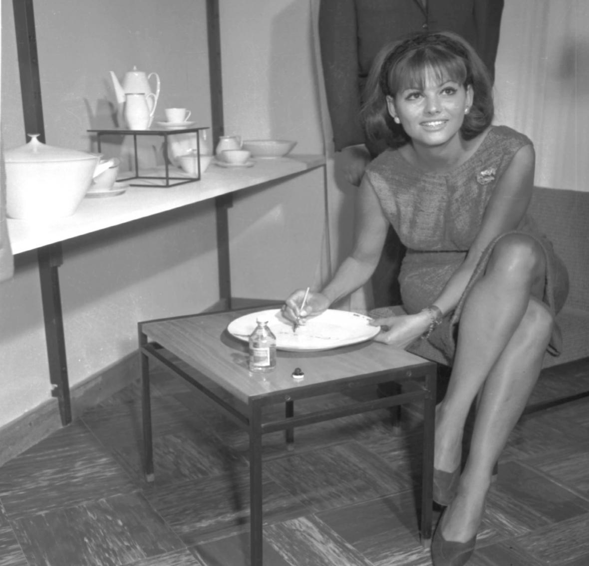 Claudia Cardinalová na MFF Karlovy Vary (1964)