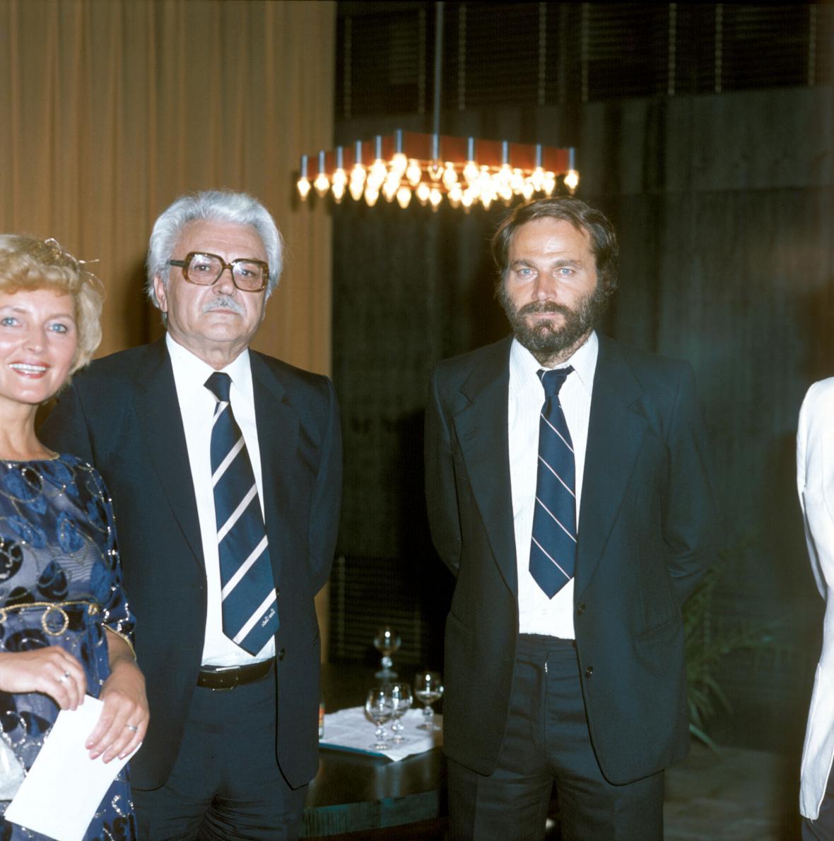 Franco Nero (vpravo) na MFF Karlovy Vary (1986)