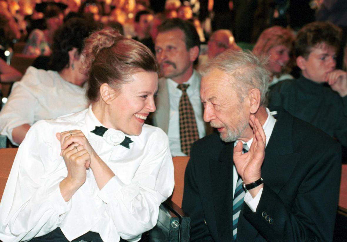 Magda Vášaryová a František Vláčil na 28. ročníku MFF Karlovy Vary